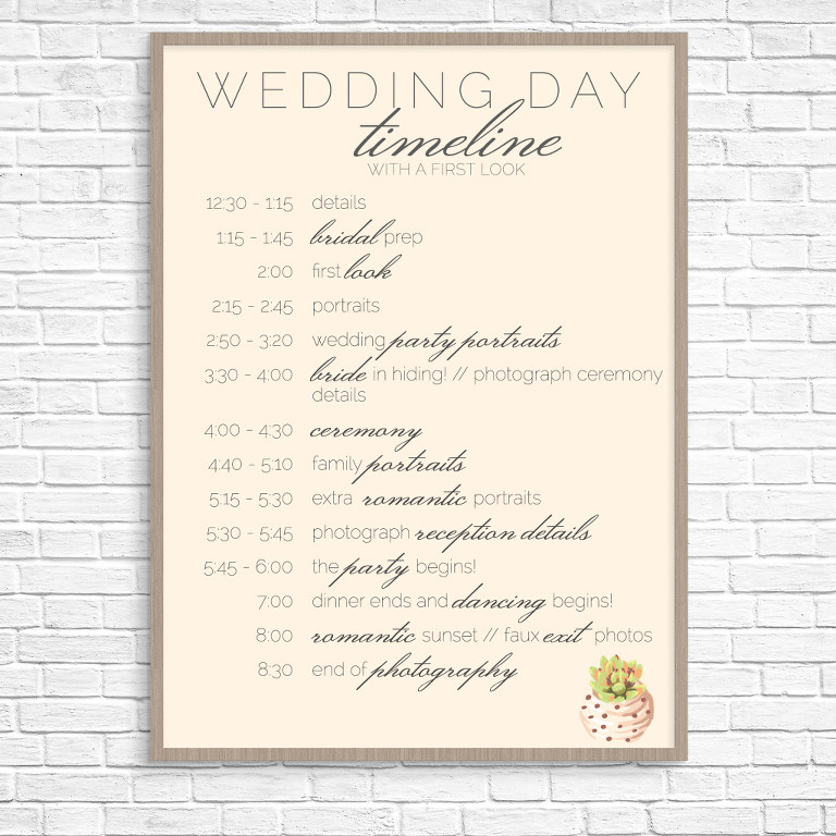 Wedding Day Timeline  Tuesday Tips  Brittani Elizabeth Photography