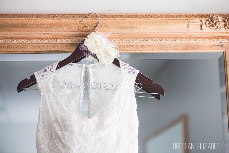 Wedding Gown Hanger | Tuesday Tips | Brittani Elizabeth Photography
